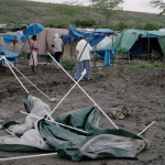 People were living in tents and living conditions were horrible.