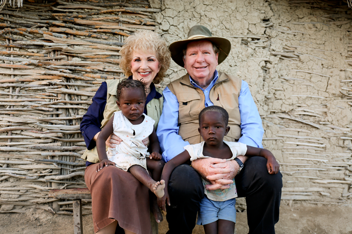 Bobby and Sherry with small Haitian children