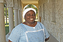 Nini manages our kitchen staff in Haiti