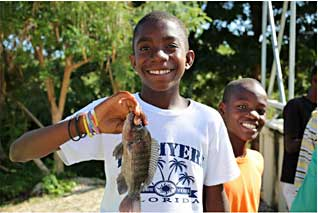 Another sustainability project - Love A Child's Tilapia Fish Farm in Haiti - Fish!