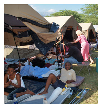 Cope Hope - where many of the people of Miracle Village were treated after the Earthquake.