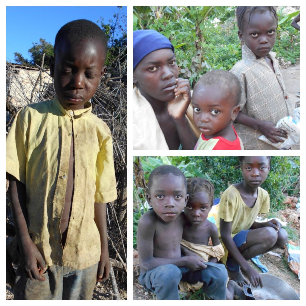 Poor Haitian adults and children