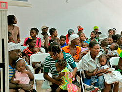 Young mothers at our Malnutrition Center in Haiti