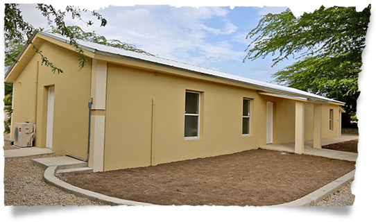 Our Malnutrition Center in Haiti - Outside view...