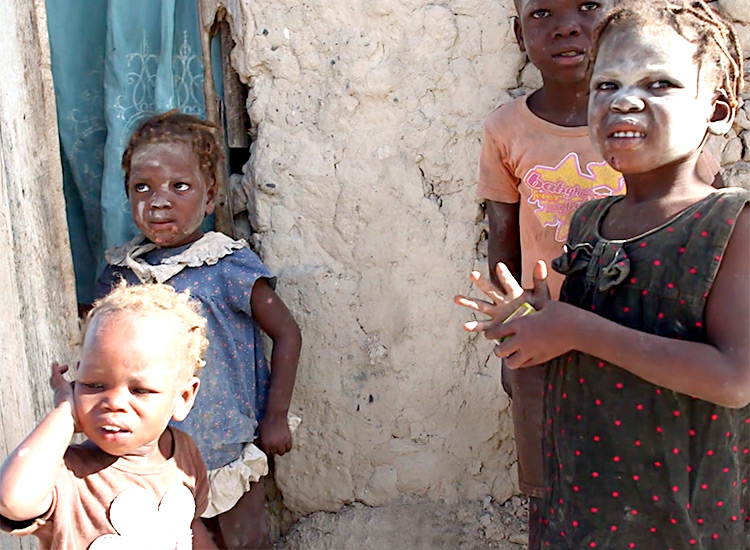 Very poor Haitian children