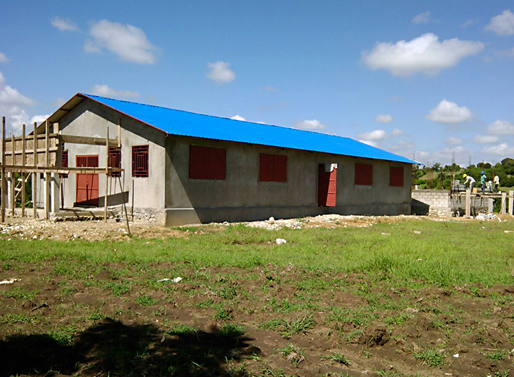 New church in Sapaterre, Haiti
