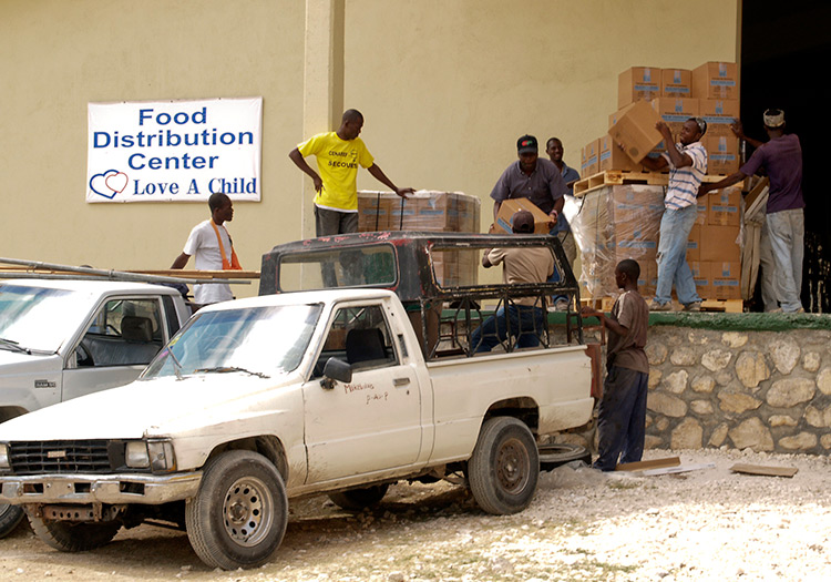 Food distribution to Haiti's Orphanages