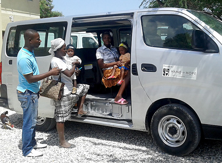 This van is invaluable and provides transportation for patients, their families, and children from the orphanage.