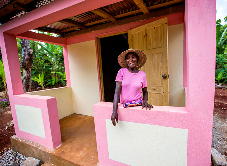 New home for woman who was living in a cave.