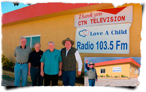 Love A Child proudly partners with Eldon Bryce, Paul Garber, and CTN President Bob D'Andrea to broadcast our radio station in Haiti and the US.