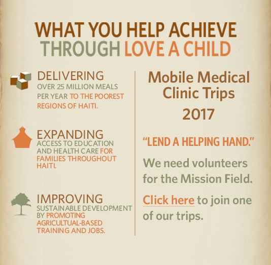 What you help to acheive through Love A Child.