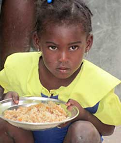 You can sponsor a Haitian child for less than $1 a day.