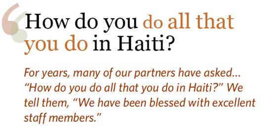 Love A Child Haitian Staff