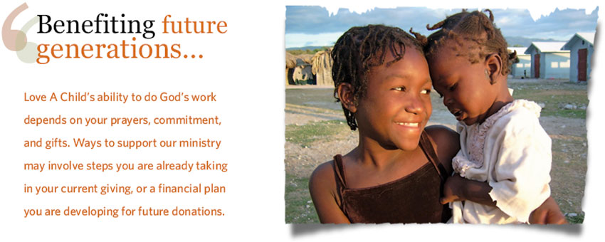 Planned Giving and Estate Planning - Support our Ministry with future donations.