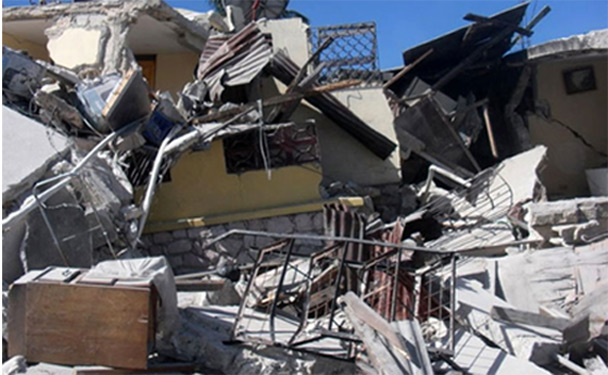 Devastation from the Haitian Earthquake.