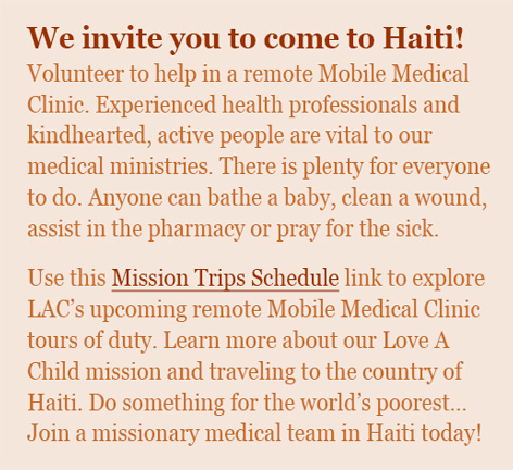 Come with a mobile medical team to Haiti today.