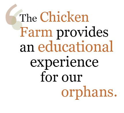 The chicken farm provides an educational experience at Love A Child's chicken farm in Haiti