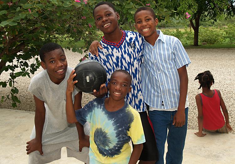 Dieubon with Love A Child orphan boys.