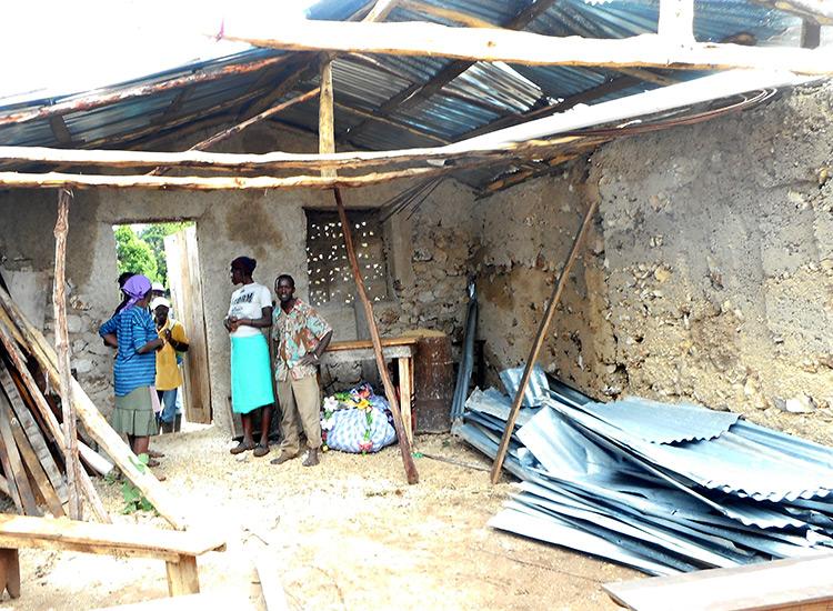 Hurricane damaged house in Peyi Pouri