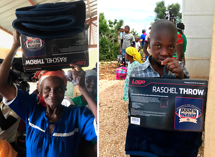 New blankets from World Vision.