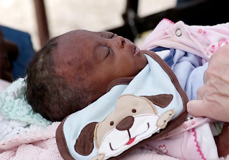 1 out of 5 children will die before the age of five. We hope this child will survive.