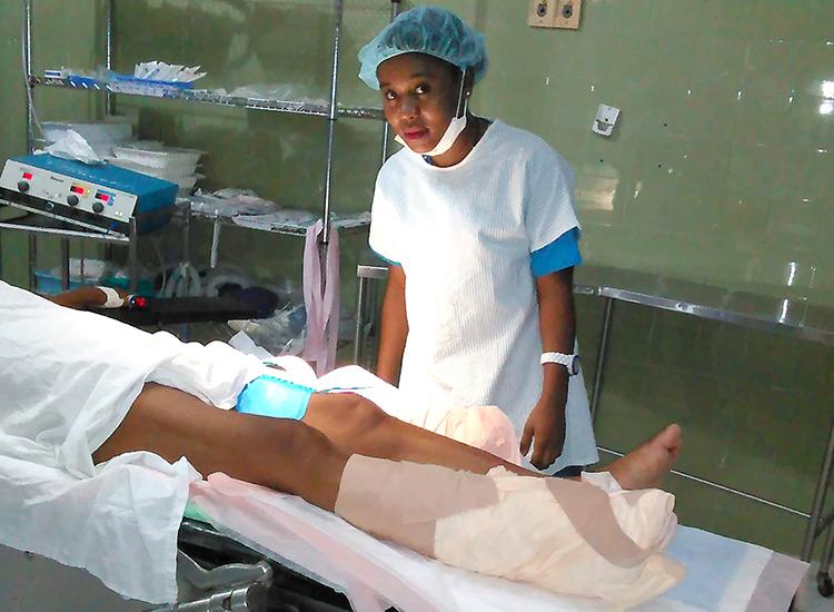 Jovanie in her fourth year of nursing school