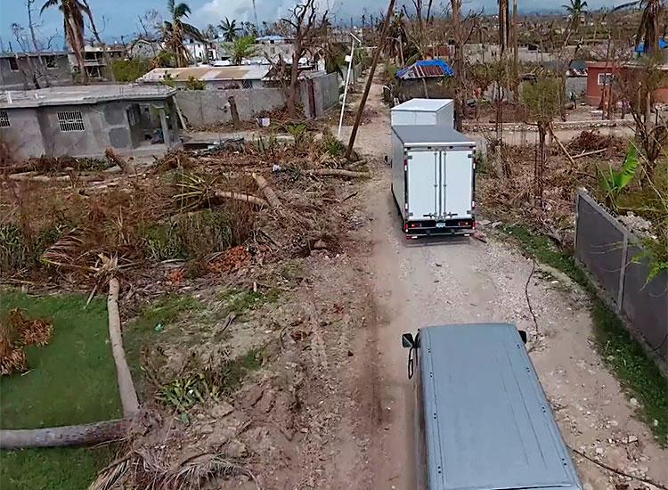 Love A Child trucks bringing more emergency supplies.