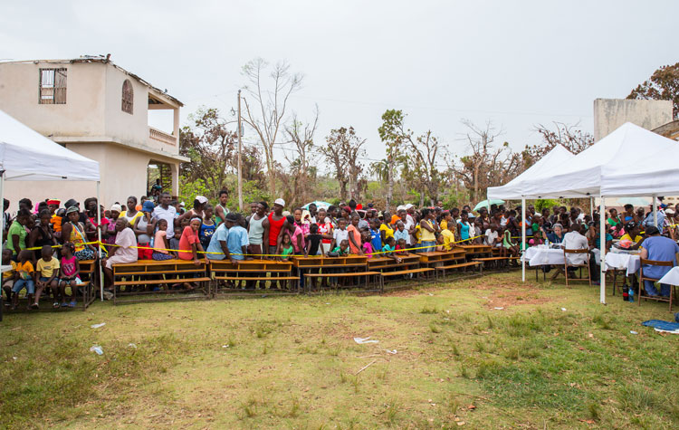 Mobile Medical Clinic Port Salut Haiti after the hurricane.
