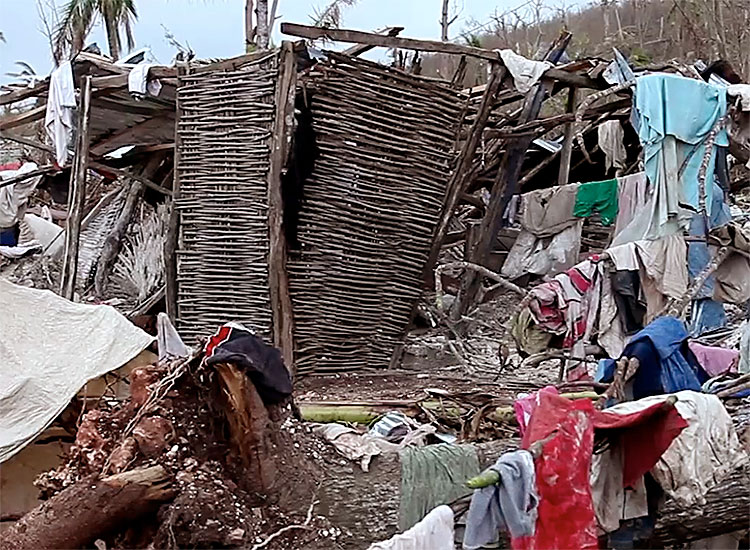 Destroyed many homes; especially the mud huts.