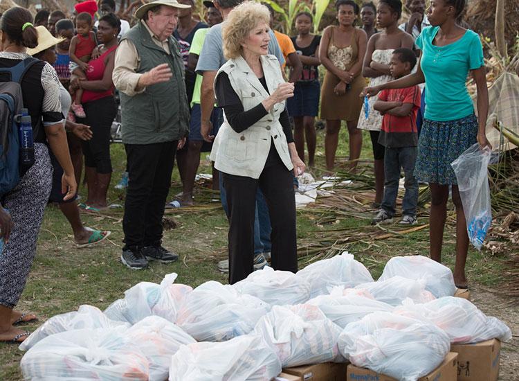 Humanitarin disaster relief in Haiti.