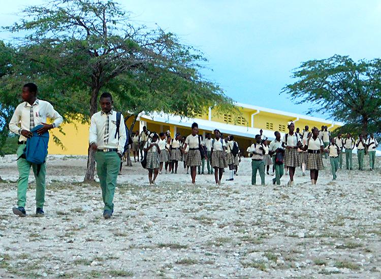 High School students in Haiti
