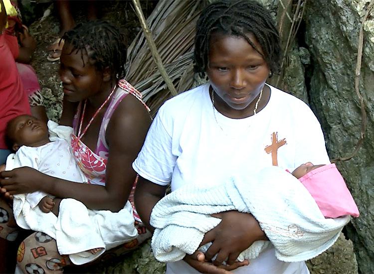 New babies born inside mountain cave in Haiti.