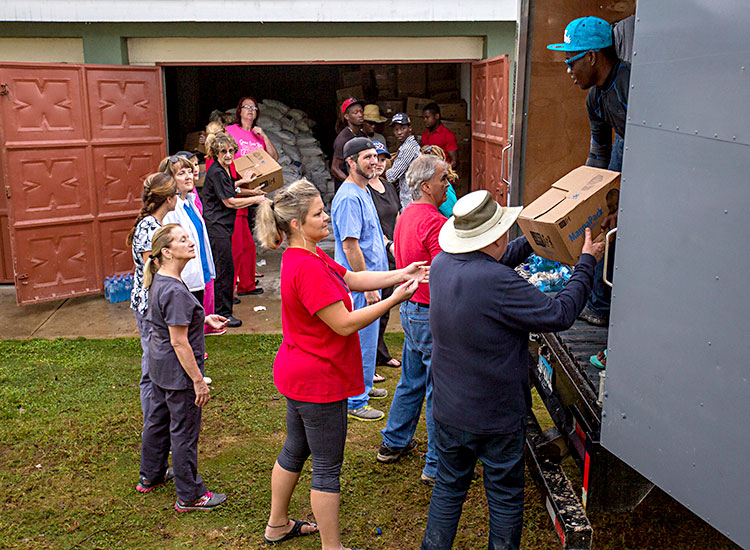 Emergency humanitarian supplies for Port Salut, Haiti