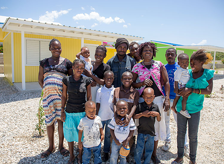 Two new houses in Miracle Village for extended Haitian Family