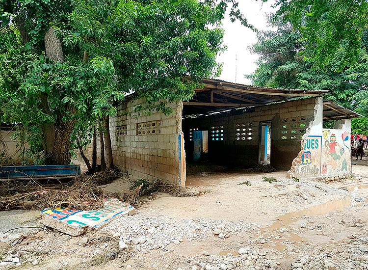 2016 Year in Review - Hurricane Matthew - damaged school