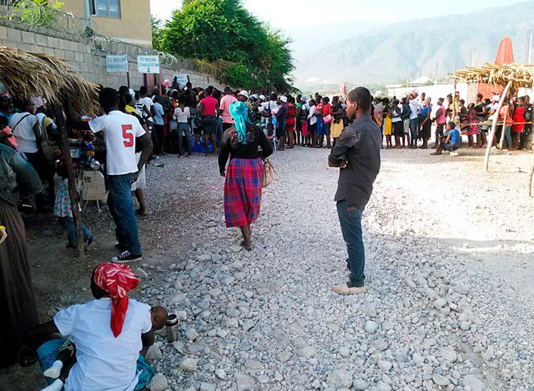 Patients waiting at Jesus Healing Center