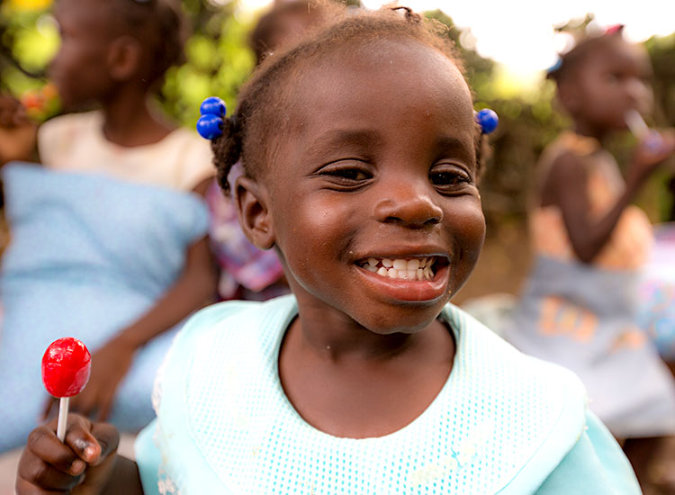 Young girls needs child sponsorship - even the poorest children have dreams.