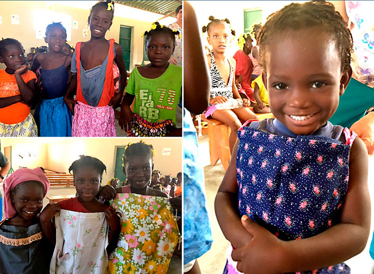 Donation of hadn made dresses and skirts