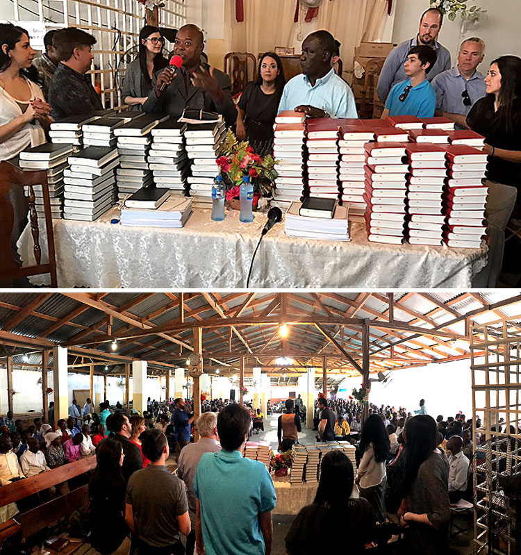 Large donation of Creole Bibles