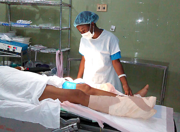 she is a great help in our Mobile Medical Clinics.