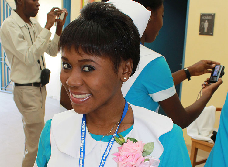 Studying to be a nurse to give back to her community.
