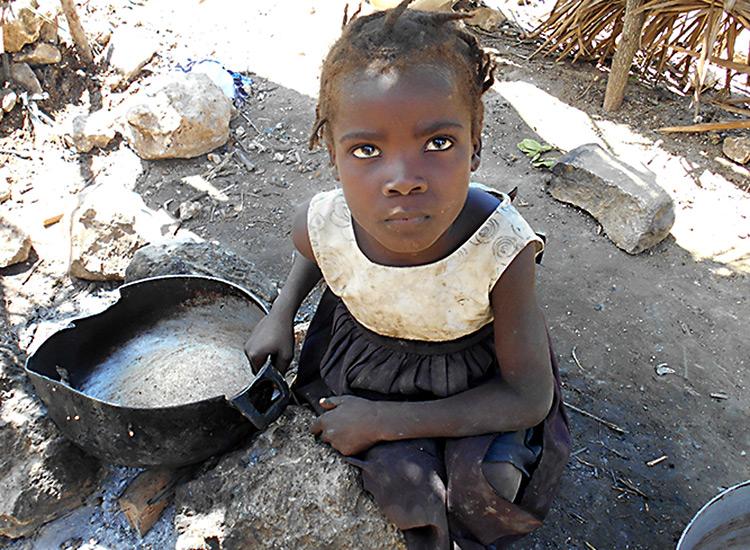 Starving children in Haiti