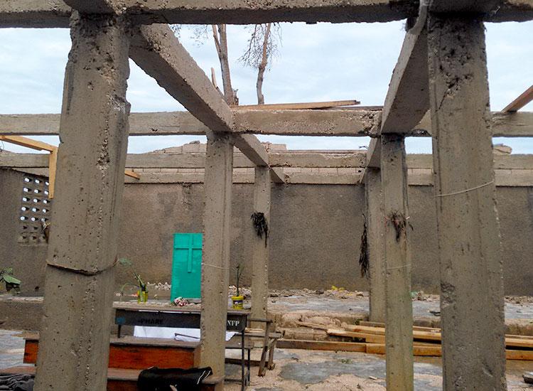 Churches were destroyed in Hurricane Matthew