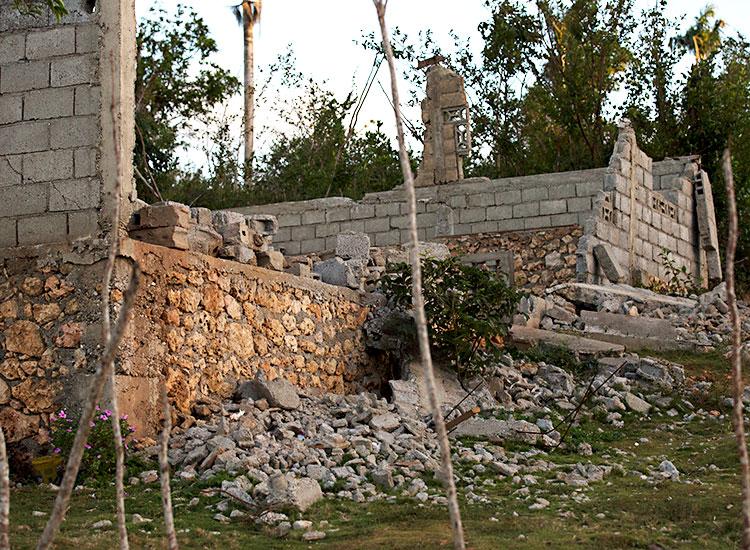 Well built homes also took a hard hit from Hurricane Matthew