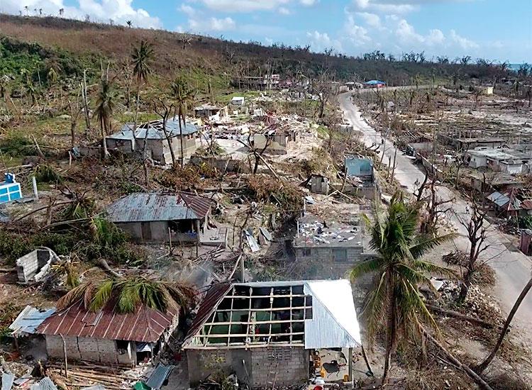 Destruction from Hurricane Matthew
