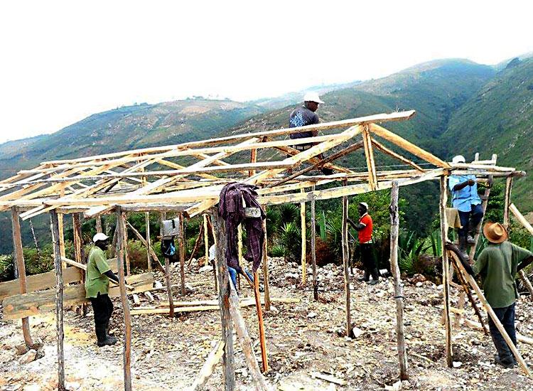Rebuilding villages like Peyi Pouri