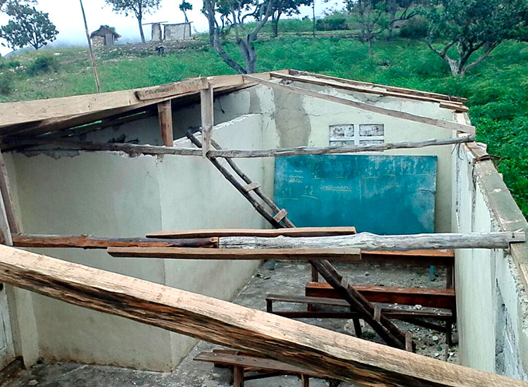 Schools collapsed during the hurricane