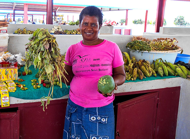 Haitians will be able to sell their fresh produce in the local marketplace.