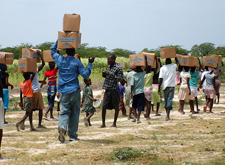 Feeding multitudes in Haiti