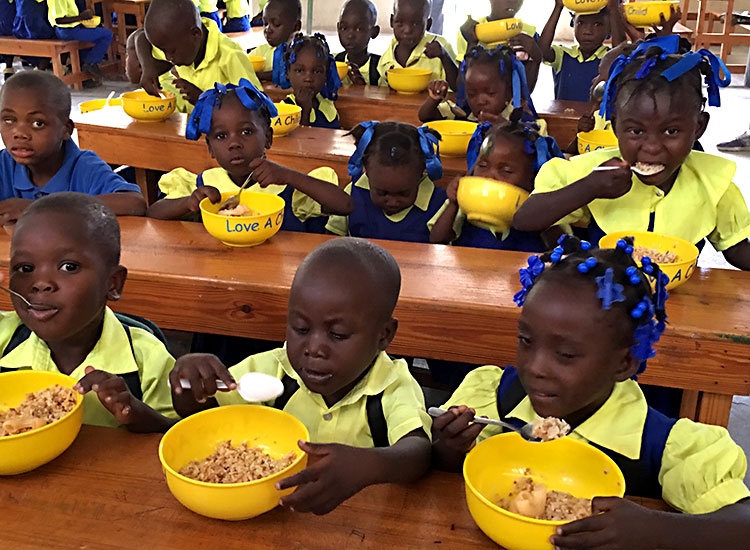 Feeding School children